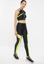 PUMA - Chase leggings - black & lime