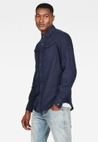 G-Star RAW - Arc 3d slim shirt long sleeves - sartho blue