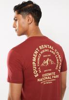 Cotton On - Yosemite Tbar souvenir T-shirt - red