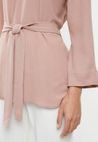 edit - Long sleeve tunic - pink
