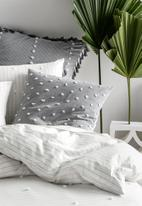 Linen House - Anya duvet cover set - smoke