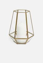 Sixth Floor - Hexagonal lantern - gold