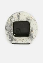 Sixth Floor - Desk clock - grey marble