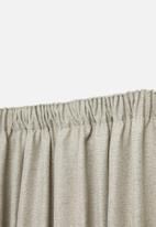 Sheraton Textiles - Manhattan taped curtain - stone melange
