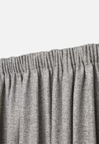 Sheraton - Manhattan taped curtain - charcoal melange