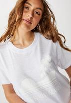 Cotton On - T-bar cali graphic crop tee - white