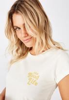 Cotton On - Essential slogan T-shirt - white