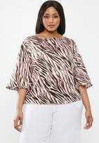 edit Plus - Boxy shell blouse - multi