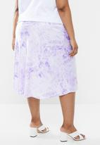 Superbalist - Bias cut skirt - purple & white