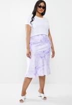 Superbalist - Bias cut skirt - purple & white