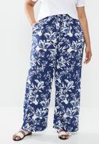 edit Plus - Wide leg pant - blue & white