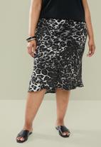 Superbalist - Bias cut skirt - black & grey