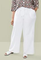 edit Plus - Wide leg pant - white