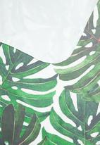 Bobums - Printed yoga towel - big green leaves