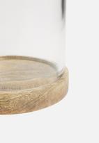 Sixth Floor - Glass lantern - wooden base