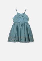 Cotton On - Iris tulle dress - blue