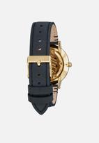Nixon - Porter 35 leather - black & gold