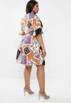 Superbalist - Pleated wrap dress - multi