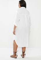 Superbalist - Soft shirt dress - white