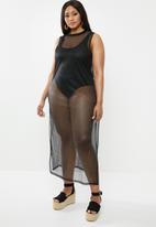 Superbalist - Mesh column dress - black