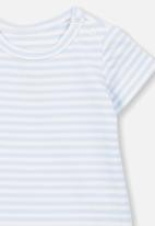 Cotton On - The short sleeve bubbysuit - blue & white
