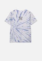 Cotton On - The upside short sleeve tee - blue & white