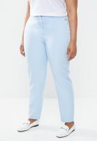 POLO - Plus size tessa basic suit trouser - blue