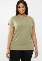POLO - Plus size - ivy capped sleeve tee - green