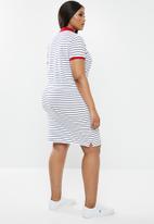 POLO - Plus size - leah stripe golfer dress - multi