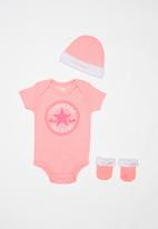 Converse - Newborn classic 3 piece boxed set - pink