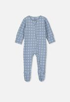 Cotton On - The long sleeve zip romper - blue