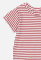 Cotton On - Jamie short sleeve tee - red & white