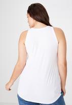 Cotton On - Curve girlfriend tank  - white