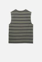 Cotton On - Otis muscle tank - khaki & black