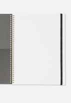 Typo - A4 spinout notebook dot page - purple