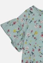 Cotton On - Hazel ruffle sleeve top - green
