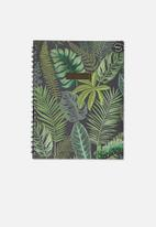 Typo - A4 campus recycled notebook - green & black