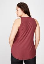 Cotton On - Curve girlfriend tank  - red