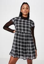 Factorie - Babydoll dress - black & white