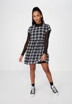 Factorie - Babydoll dress - black & white