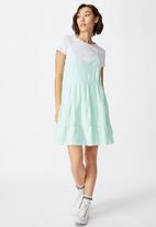 Factorie - Textured tiered dress - blue