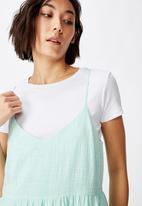 Factorie - Textured tiered dress - blue