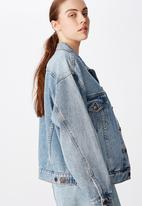 Factorie - Oversized denim jacket - blue