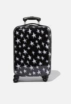 Typo - Tsa small suitcase - black & white