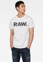 G-Star RAW - Rijks graphic short sleeve tee - white