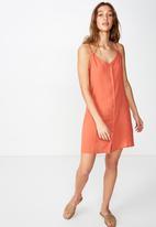 Cotton On - Woven maisy strappy mini dress  - orange