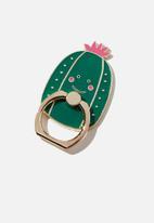 Typo - Enamel phone ring - green