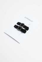 Superbalist - Velvet hair slide set - black