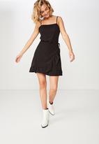 Cotton On - Woven kiki summer mini dress  - black