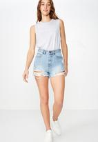 Cotton On - Mia graphic muscle tank  - grey